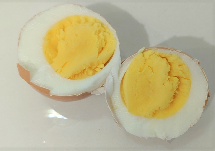 9 minute hard boiled egg