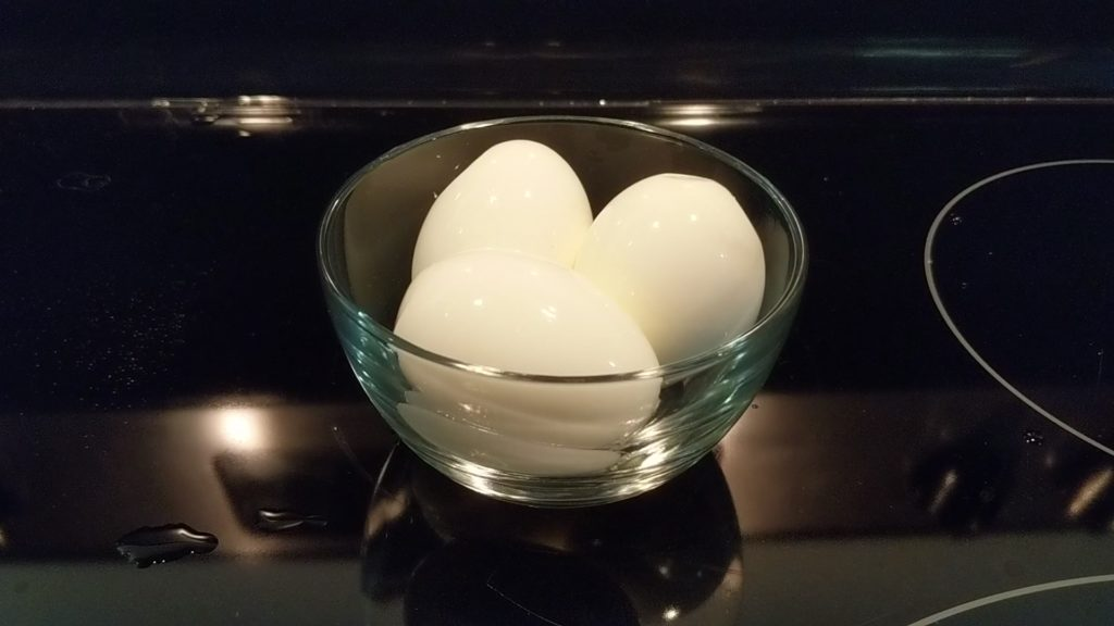 Eggs cooked and peeled perfectly