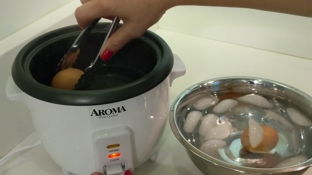 Aroma Rice Cooker 2 - 6 Cup Add eggs to Ice Bath
