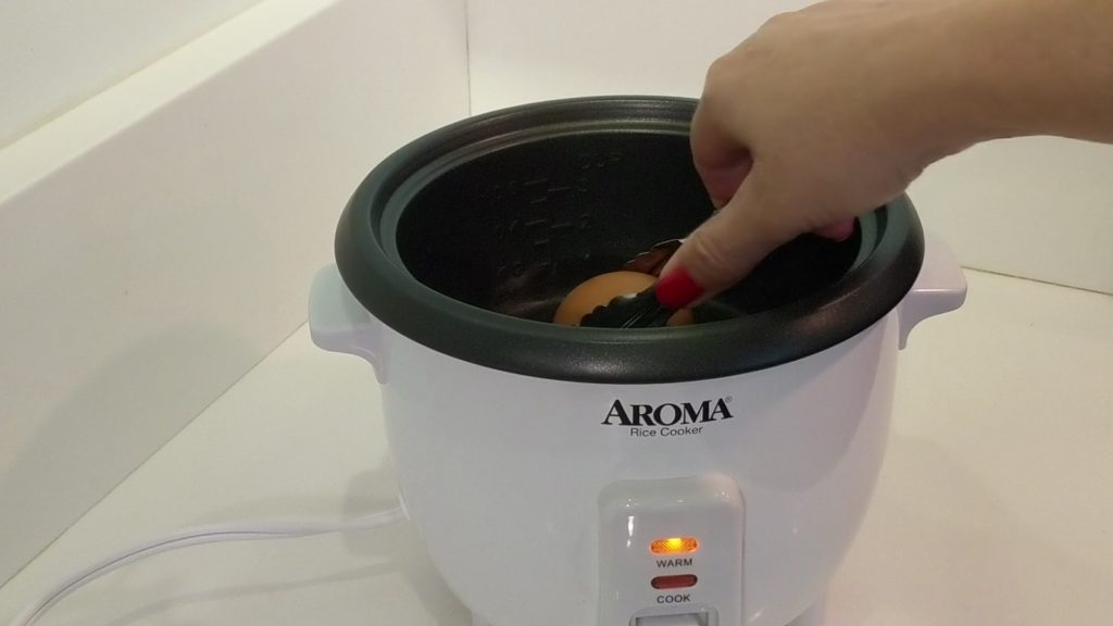Aroma Rice Cooker 2 - 6 Cup Hard Boil Egg add eggs