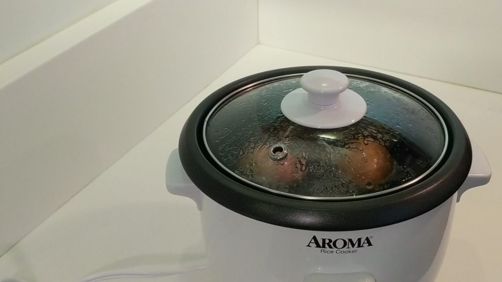 Aroma Rice Cooker 2 - 6 Cup Hard Boil Egg cooking for 12 minutes