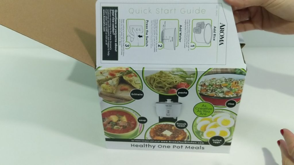 Aroma Rice Cooker 2 - 6 Cup Unboxing Quick Start Instruction Panel