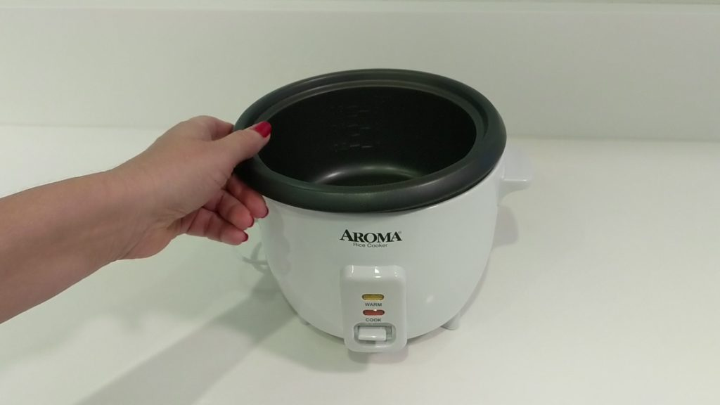 Aroma Rice Cooker Boils Eggs internal cooking pot