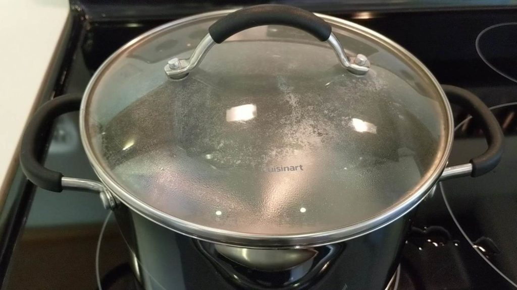 Turn up the heat and boil the water - boil egg